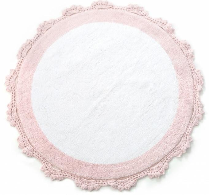 Коврик Irya - Doreen pembe-beyaz розовый 90*90