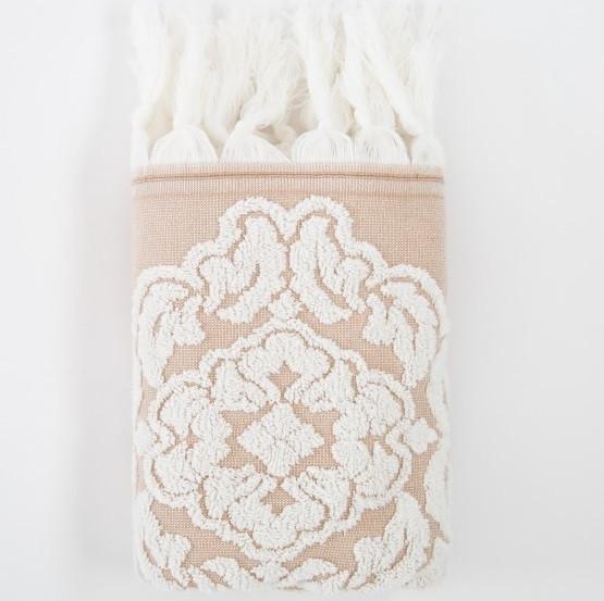 Полотенце Irya Jakarli - Calisto ekru молочный 70*130