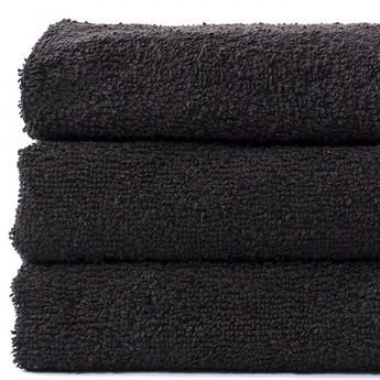 Полотенце Lotus Black - Черный 40*70 (16/1) 450 г/м²