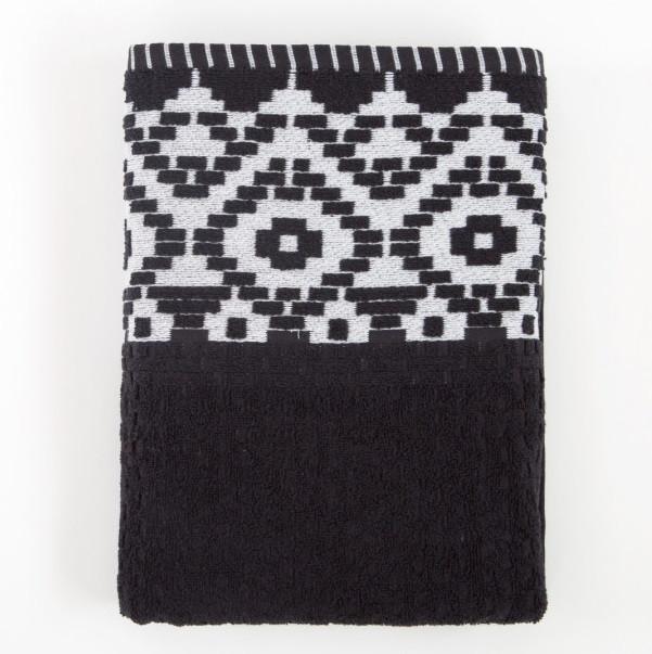 Полотенце Irya Jakarli - New Wall siyah черный 50*90