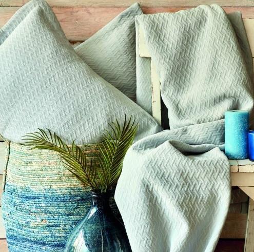 Покривало з наволочками Karaca Home - Charm bold mavi блакитний 250*240 євро