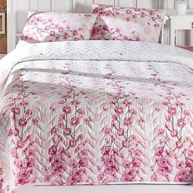 Покривало стеганное з наволочкою Eponj Home - Coretta a.pembe рожевий 160*220