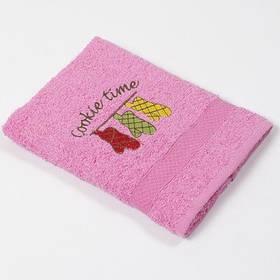 Рушник кухонне Lotus Sun - Cookie time рожевий 40*70