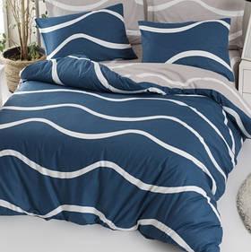 Постільна білизна Lotus Home Perfect - Nova блакитний сімейний