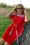 Платье ТМ ALL POSA Земфира красный 50 (100572), фото 4