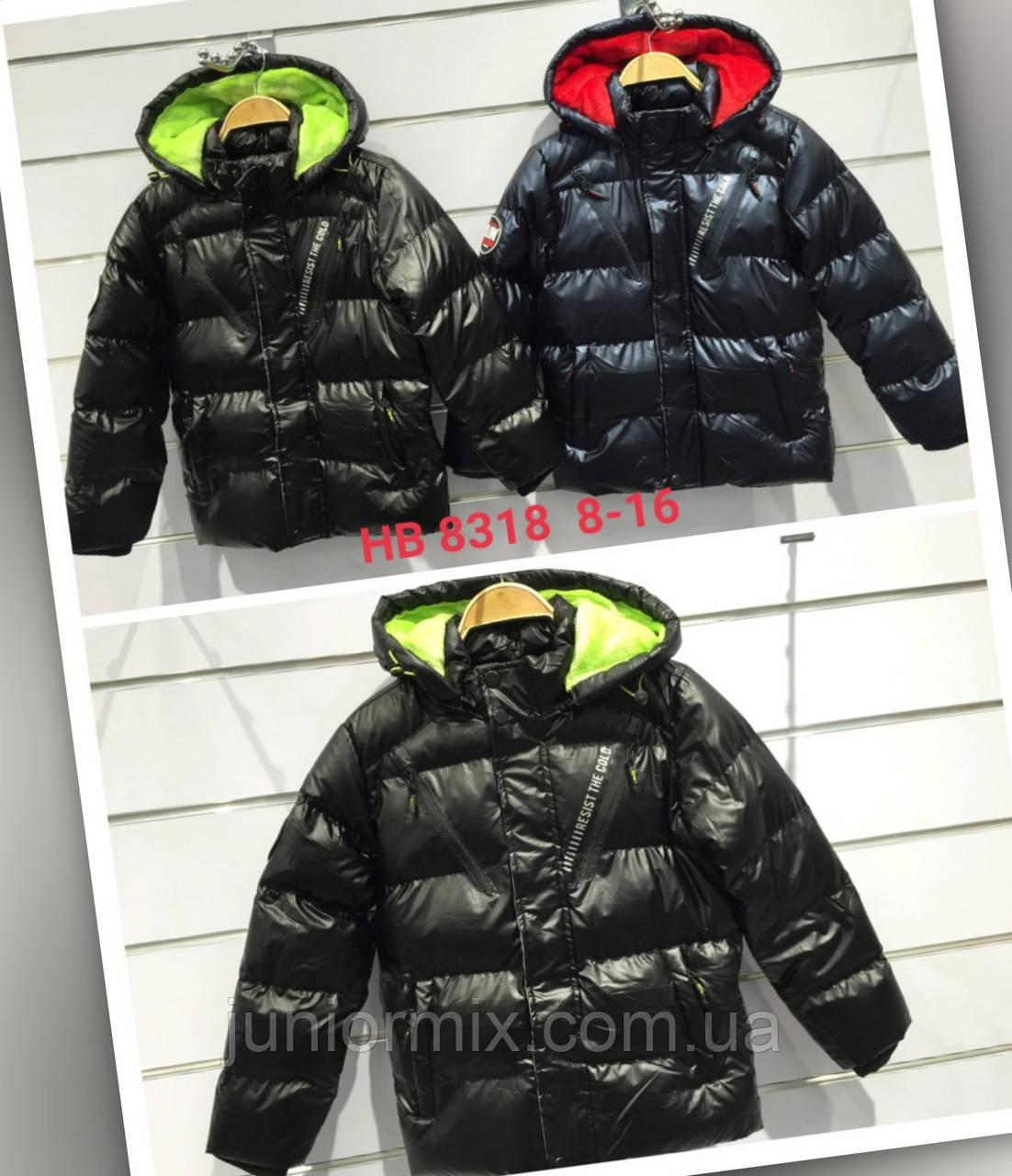 Подростковые зимние  куртки для мальчиков оптом  8--16лет