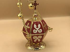 Кадило в красном декоре эмалью