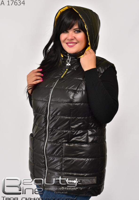Жилетка жіноча великого розміру чорний Розміри: 50.52.54.56.58.60.62.64