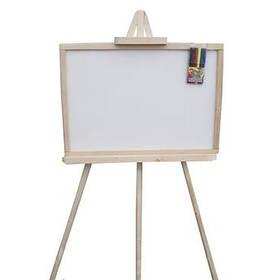 Доска для рисования на 3- ноге большая 70*45см двухсторон. немагнитная,смерека М327045 ТМ Дерево