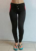 Женские  спортивные лосины HONGYE (0908) черные с розовым код 035 Б