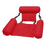 Надувний матрац стілець складаний плаваючий Червоний | Пляжний водний гамак крісло, фото 2
