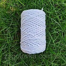 Шнур бавовняний Макраме 5мм Білий