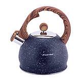 Чайник из нержавеющей стали со свистком и бакелитовой ручкой для индукции и газа Kamille KM-1071 (2 л), фото 5