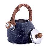 Чайник из нержавеющей стали со свистком и бакелитовой ручкой для индукции и газа Kamille KM-1071 (2 л), фото 7
