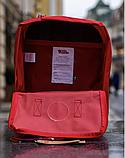 Рюкзак Kanken Fjallraven Classic 16л Красный канкен классик с радужными ручками школьный, портфель Red, фото 5
