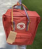 Рюкзак Kanken Fjallraven Classic 16л Красный канкен классик с радужными ручками школьный, портфель Red, фото 8