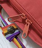 Рюкзак Kanken Fjallraven Classic 16л Красный канкен классик с радужными ручками школьный, портфель Red, фото 10