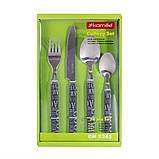 Набір столових приладів Kamille KM-5245 24 пр. з пластиковими ручками, фото 2