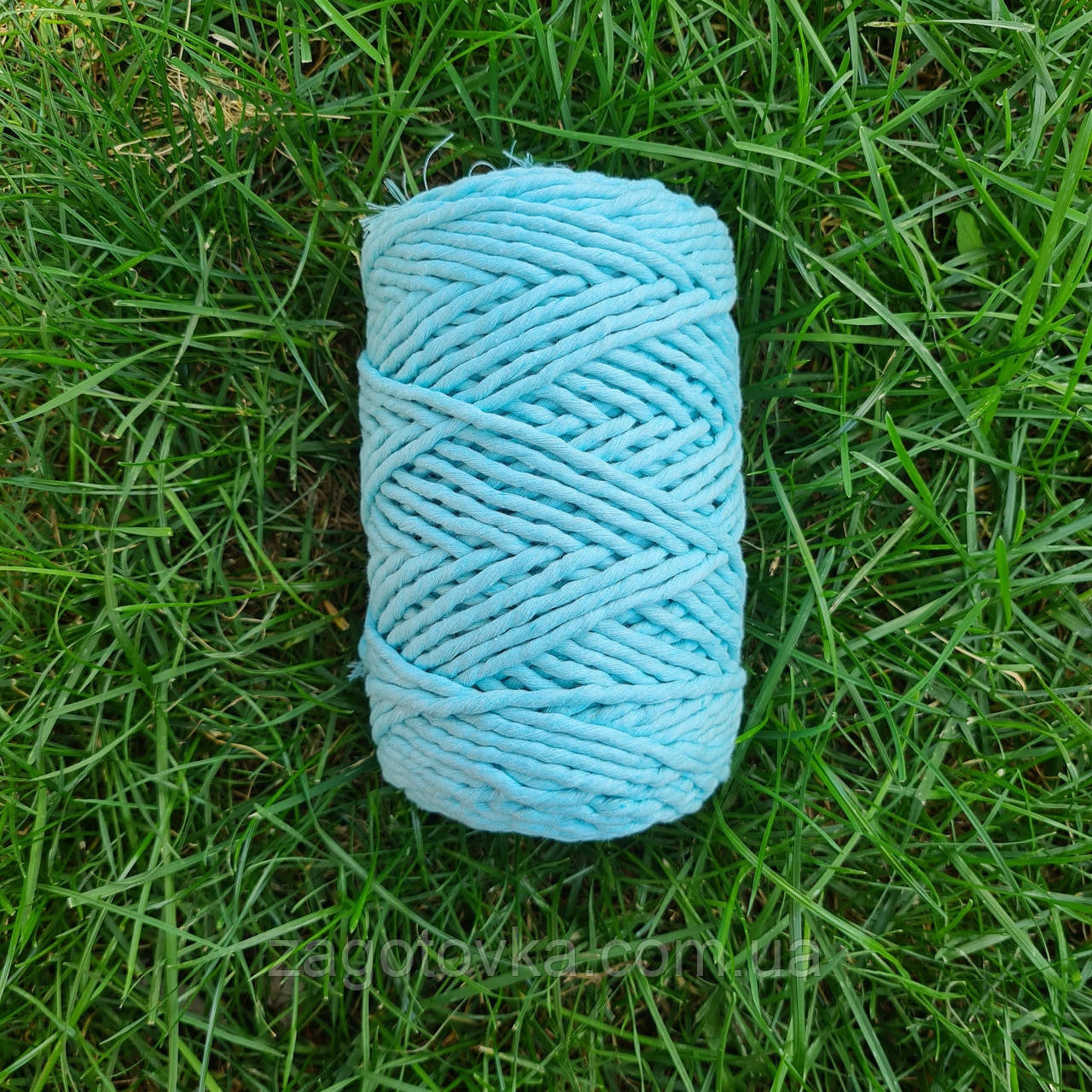 Шнур хлопковый Макраме 5мм Голубой