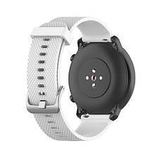 Ремешок BeWatch GT 20мм силиконовый для часов универсальный Белый(1011402)