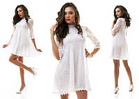 Красивое белое гипюровое платье разлетайка