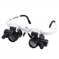 Лупа-очки бинокулярные NO.9892H-1 (8x/23x) c LED подсветкой
