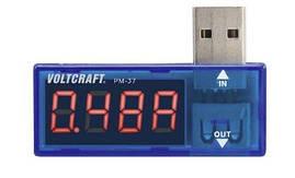 Вимірювальний USB-тестер VOLTCRAFT PM-37 Дисплей CAT I для вимірювання напруги, ємності, струму