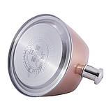 Чайник из нержавеющей стали со свистком и черной бакелитовой ручкой Kamille KM-0697 для индукции и газа (3 л), фото 3