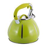 Чайник Kamille KM-0691A Зелений 3л з нержавіючої сталі зі свистком, фото 4