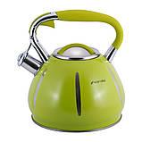 Чайник Kamille KM-0691A Зелений 3л з нержавіючої сталі зі свистком, фото 9