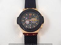Мужские часы Hublot Geneve Big Bang King B121 бронзовые с черным циферблатом календарь