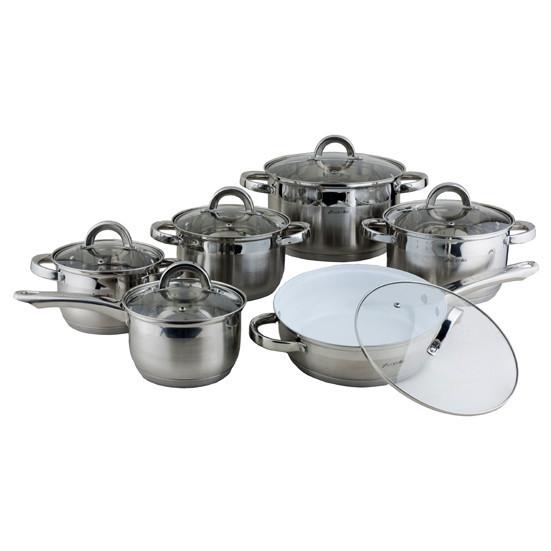 Набір посуду Kamille KM-4027SKER з нержавіючої сталі 12 предметів