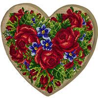 Подушка сердце 3D Сад из роз