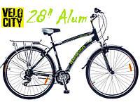 """Велосипед Optimabikes Highway 28"""" с багажником черно-зеленый, фото 1"""