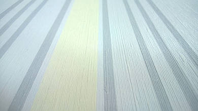 Виниловые обои Carnaby в полоску, голубого цвета на бумажной основе. Артикул 42615