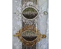 Пряжка декоративная со стразами овал