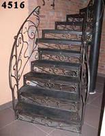 Полувинтовая кованая лестница