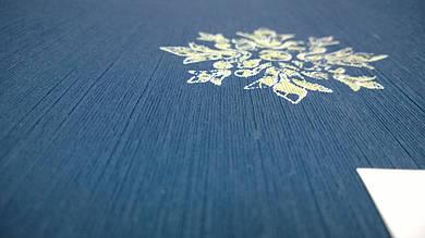 Виниловые обои Carnaby с рисунком, синего цвета на бумажной основе. Артикул 42659