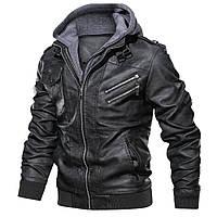 Мужская кожаная куртка с натуральной кожи батал.