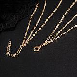 Багатошарова жіноча золотиста ланцюжок з підвісками код 2115, фото 3