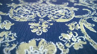 Виниловые обои Carnaby с рисунком, синего цвета на бумажной основе. Артикул 42641