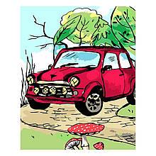 Детская Картина по Номерам Красное нарисовано авто 30х40 см Strateg