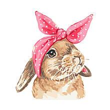 Детская Картина по Номерам Кролик с бантом 30х40 см Strateg