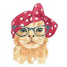 Детская Картина по Номерам Рыжий котик в очках 30х40 см Strateg
