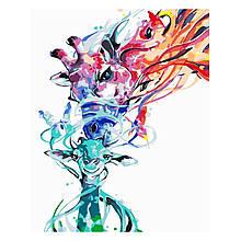 Детская Картина по Номерам Разноцветные жирафы 30х40 см Strateg