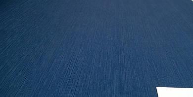 Виниловые обои Carnaby однотонные, синего цвета на бумажной основе. Артикул 42683