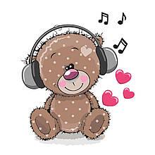 Детская Картина по Номерам Музыкальный медведь 30х40 см Strateg