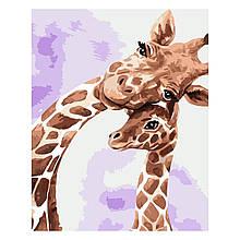 Детская Картина по Номерам Жираф с детенышем 30х40 см Strateg