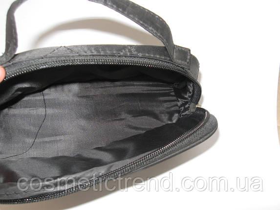 Косметичка дорожная стеганая черная с зеркалом 512055, фото 2