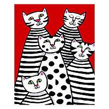 Детская Картина по Номерам Квинтет котиков 30х40 см Strateg